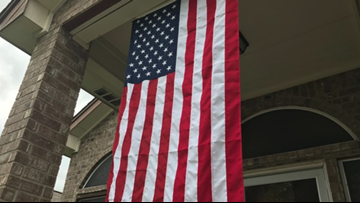 Flag fight: HOA threatens to fine soldier if he doesn't take down American flag