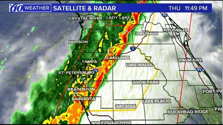 Severe thunderstorm line 2-6-2020