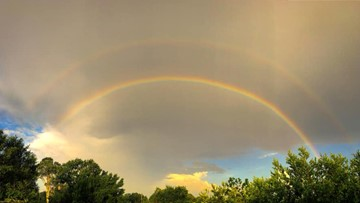 Shining light on the science of a double rainbow