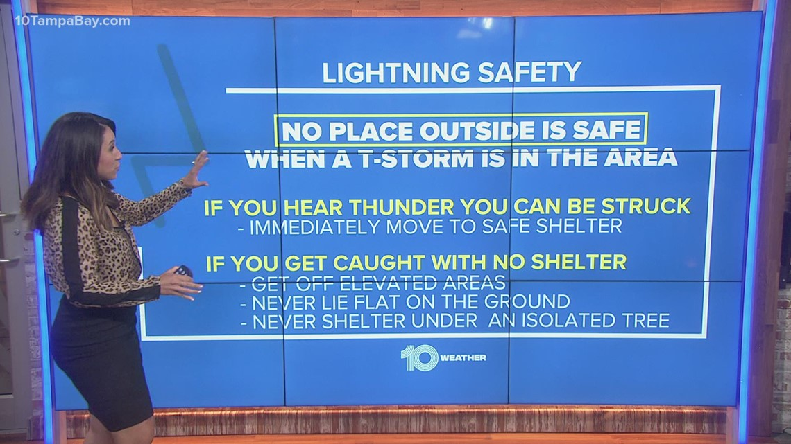 How to stay safe from lightning during a storm