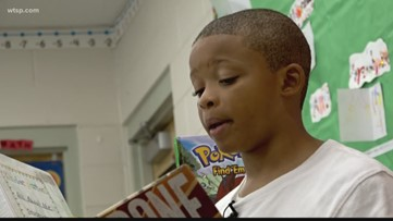 8 year old uses a  $100 gift to  inspire other kids to read