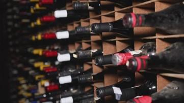 Inside Bern's Steak House's wine cellar