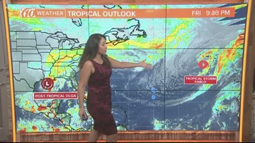 Tropical Storm Pablo, post-tropical Olga not forecast to affect Florida