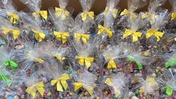 Chocolate Factory makes Easter baskets for nurses' families