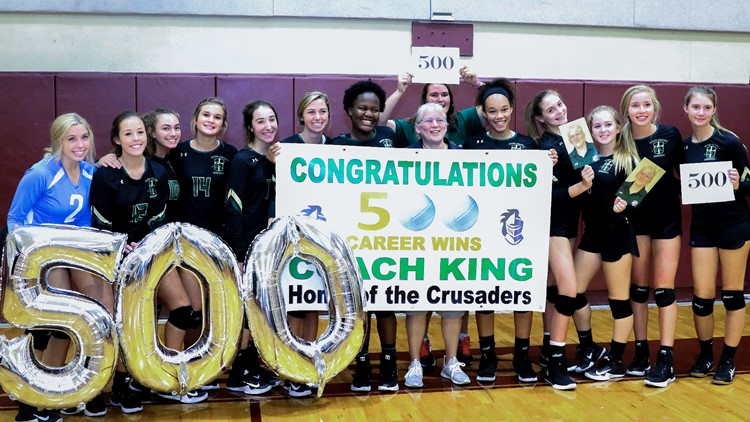 Coach King earns her 500th win in a second sport