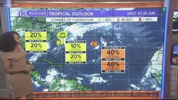 Tracking the Tropics: Keeping an eye on 2 disturbances