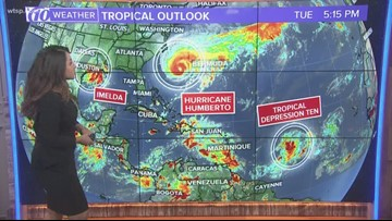 Tracking the Tropics: Keeping an eye on Tropical Storm Imelda, Hurricane Humberto, and Tropical Depression Ten