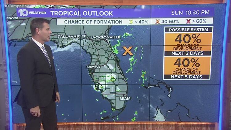 NHC: Disturbance off Florida's northeast coast still disorganized Sunday evening