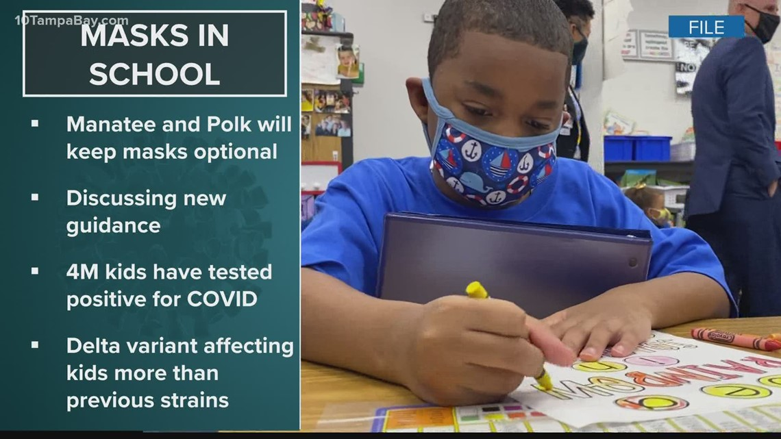 Despite new CDC guidance, masks to stay optional in Hillsborough, Pinellas schools