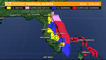 Watches and warnings for Florida ahead of Hurricane Dorian
