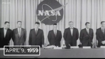 NASA introduced the Mercury Seven, the world's first astronauts