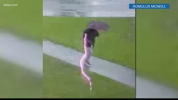 Man hit by lightning, walks away