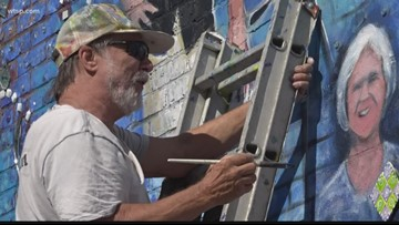 Tampa artist creates mural to honor his late wife and inspirational women