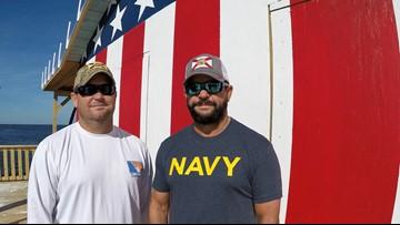 USA flag mural completes family's stilt home