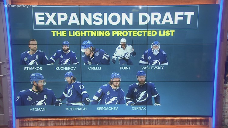 NHL announces Lightning available, protected lists