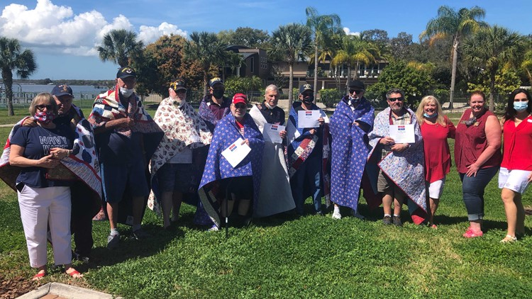 Tampa Bay veterans receive homemade quilts as a 'thank you' for their sacrifice