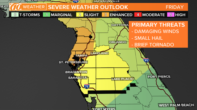 Enhanced risk for severe storms on Friday, April 19, 2019