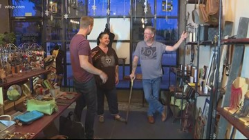 Veteran teaches leatherworking classes at shop in Lakeland