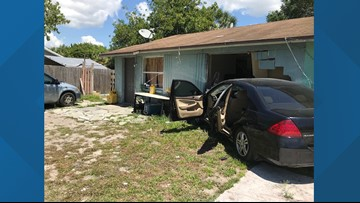 Deputies looking for driver who they say stole car, crashed into duplex