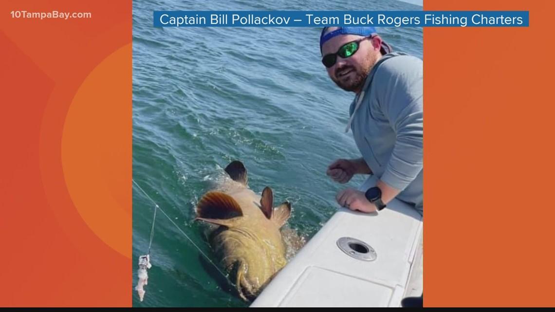 200-pound Goliath grouper caught off Florida's coast
