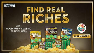 Win $300 in Gold Rush Scratch-off Tickets