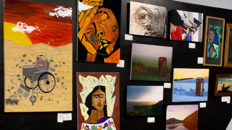 Veterans share art skills in military-focused showcase