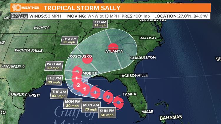 Hurricane Headquarters   Tampa Bay Weather   wtsp.com Hurricane Sally Tracker Noaa