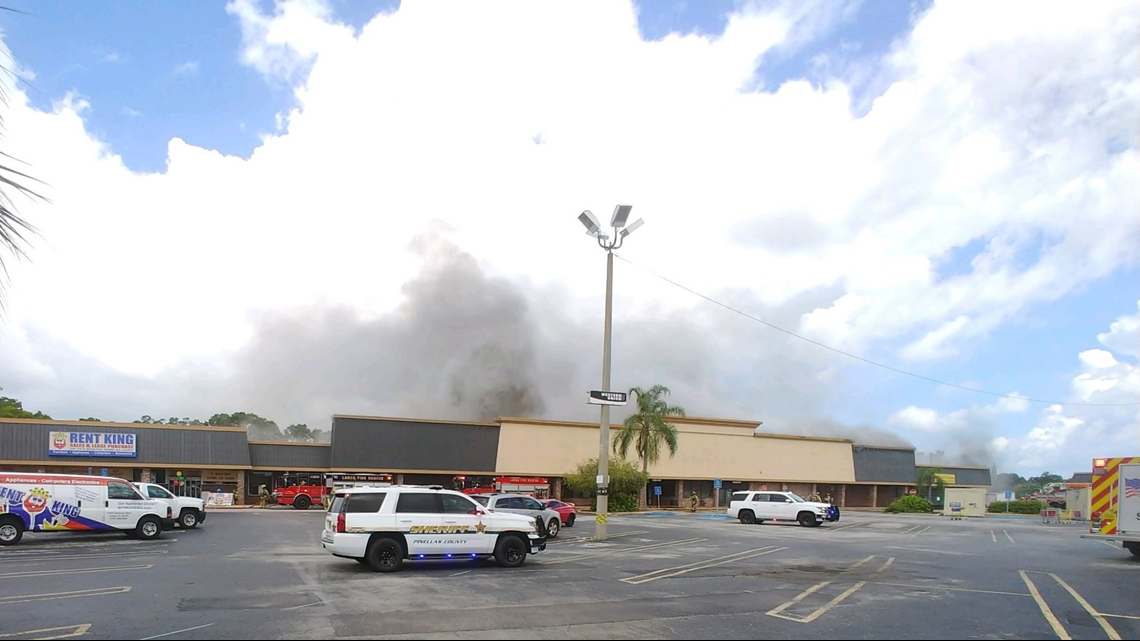 Firefighters battling fire at former Largo Winn-Dixie