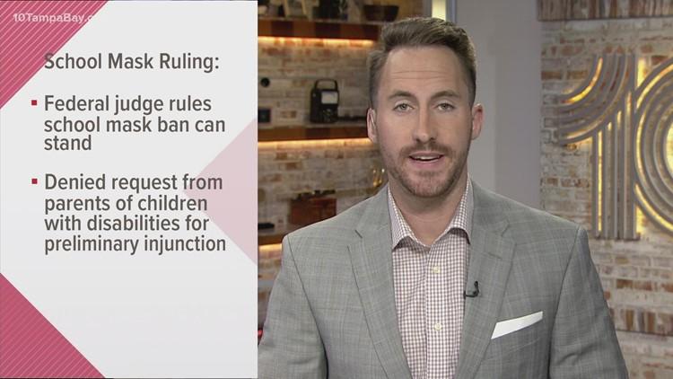 Federal judge declines to block Florida ban on mask mandates