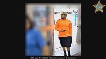 Deputies want to identify man accused of taking picture up woman's dress at Walmart