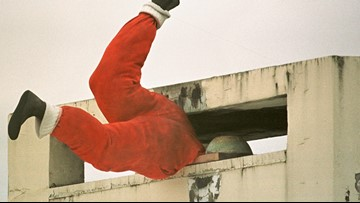 Man gets stuck in chimney while trying to sneak into a home