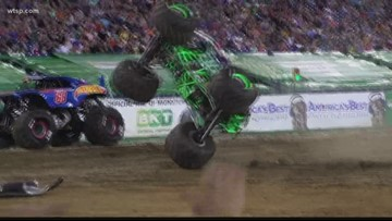 Monster Jam trucks get ready to roll at Palmetto shop