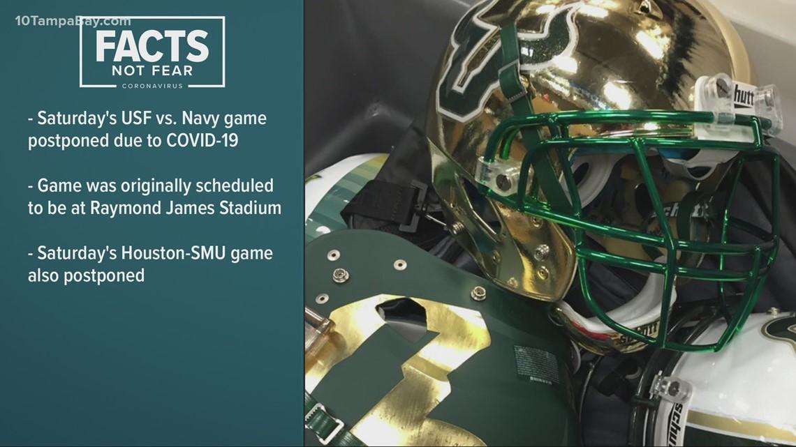 Saturday's USF vs. Navy game postponed due to COVID-19