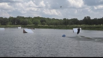 Waterski using cable system in Hillsborough County