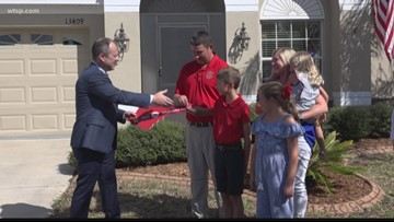 'It's where our family's going to be': Veteran gets newly renovated home thanks to non-profit