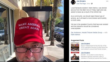 Man says he was thrown out of bar for wearing MAGA hat