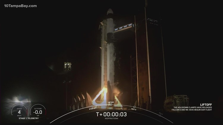 SpaceX launches world's first-ever orbital flight with all-amateur crew