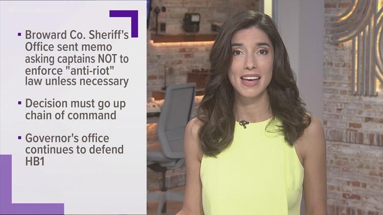 South Florida deputies told not to enforce 'anti-riot' law