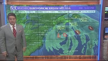 Subtropical Storm Melissa forms off U.S. coast