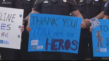 Tampa Police Department salutes health care workers on the coronavirus front lines