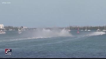 Boats flip during Key West race