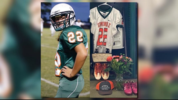 She was hit and killed by a suspected drunk driver. Her football jersey will be retired