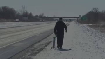 Veteran walking from Minnesota to Florida for special cause