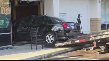 Faulty brakes may have caused driver to crash into restaurant, injuring 6