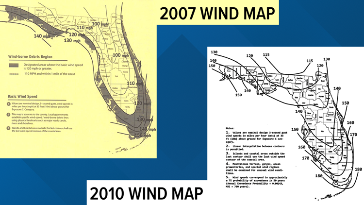 Florida wind maps