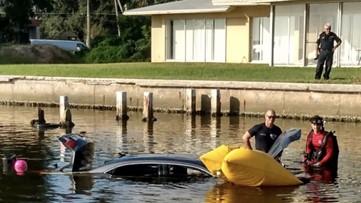 Body found inside submerged car in St. Petersburg