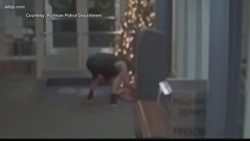 Video shows student taking empty packages