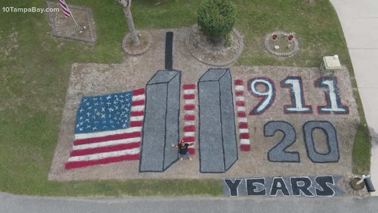 Spring Hill man turns yard into memorial marking 20 years after 9/11 attacks