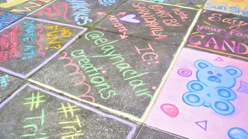 Tampa Bay neighborhood has a giant Candy Land chalk display families can visit