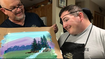 Painting therapy helps veteran cope through color